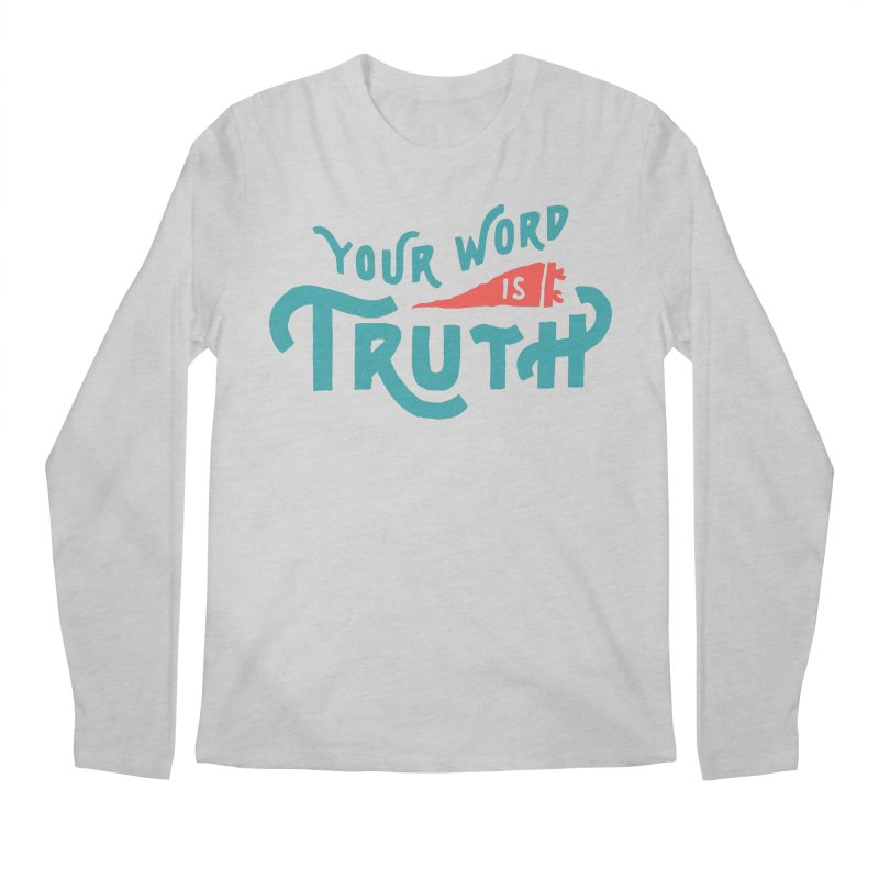 Your Word is Truth (blue) Men's Regular Longsleeve T-Shirt by A Worthy Manner Goods & Clothing