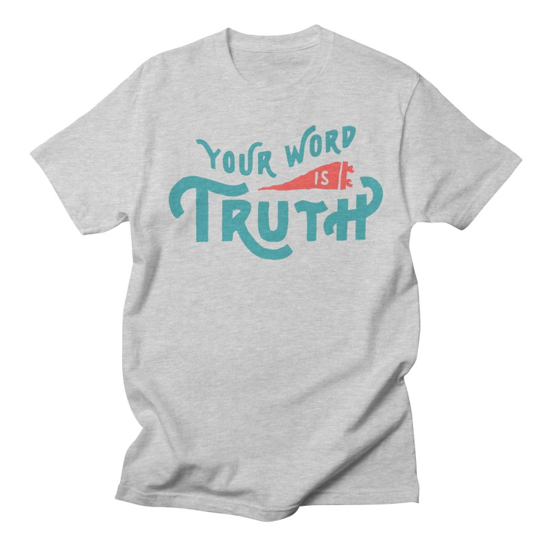 Your Word is Truth (blue) Men's Regular T-Shirt by A Worthy Manner Goods & Clothing