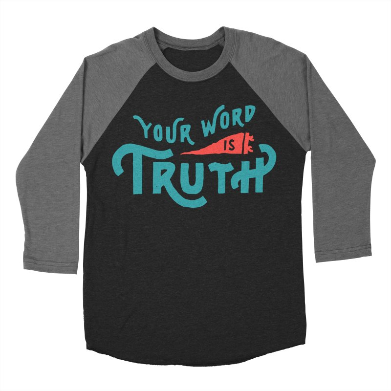Your Word is Truth (blue) Men's Baseball Triblend Longsleeve T-Shirt by A Worthy Manner Goods & Clothing