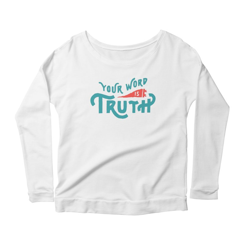 Your Word is Truth (blue) Women's Scoop Neck Longsleeve T-Shirt by Reformed Christian Goods & Clothing
