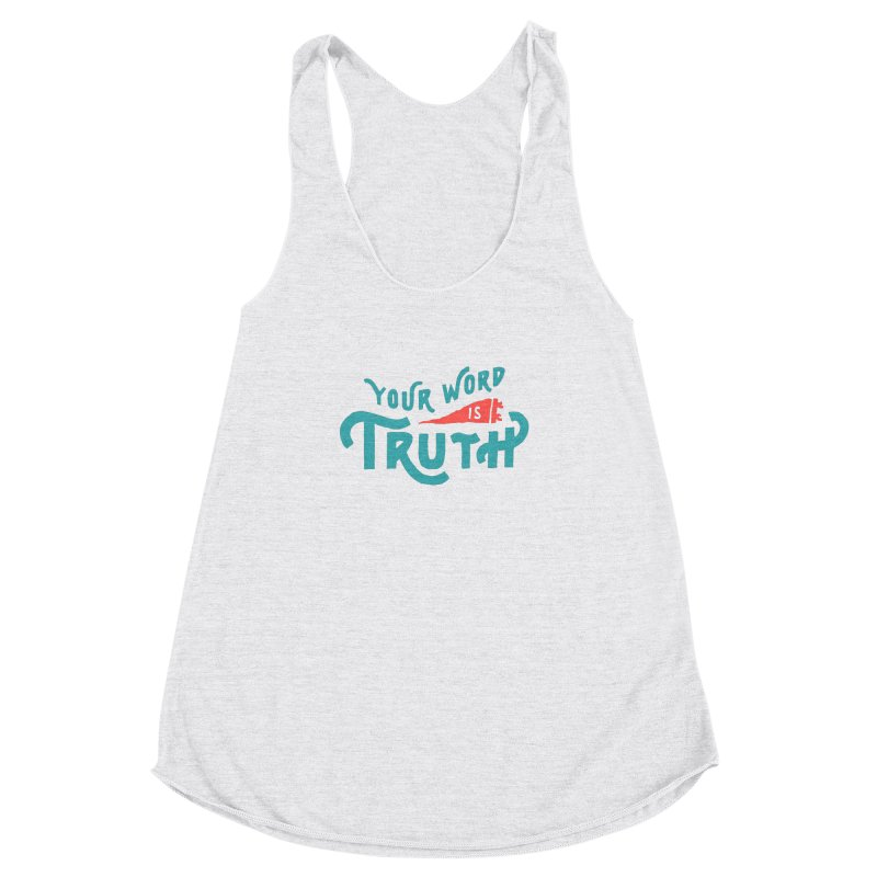 Your Word is Truth (blue) Women's Racerback Triblend Tank by Reformed Christian Goods & Clothing