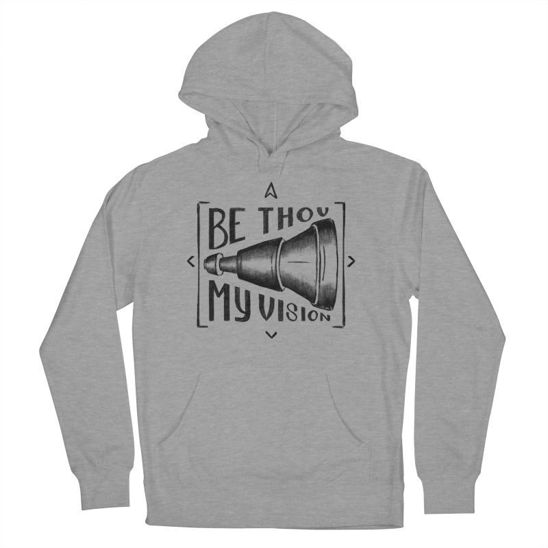 Be Thou My Vision (black) Men's French Terry Pullover Hoody by Reformed Christian Goods & Clothing