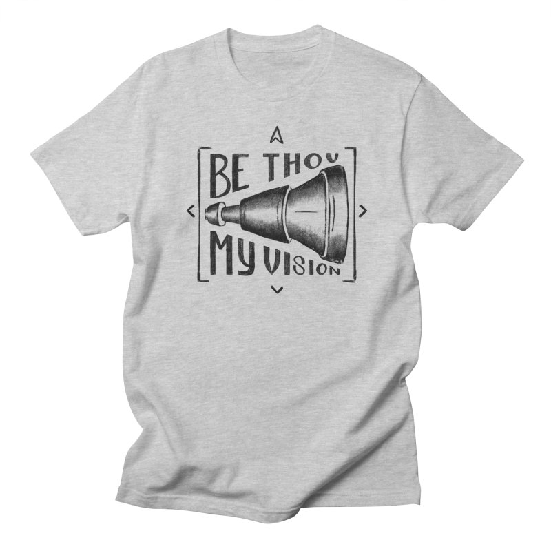Be Thou My Vision (black) Men's Regular T-Shirt by Reformed Christian Goods & Clothing