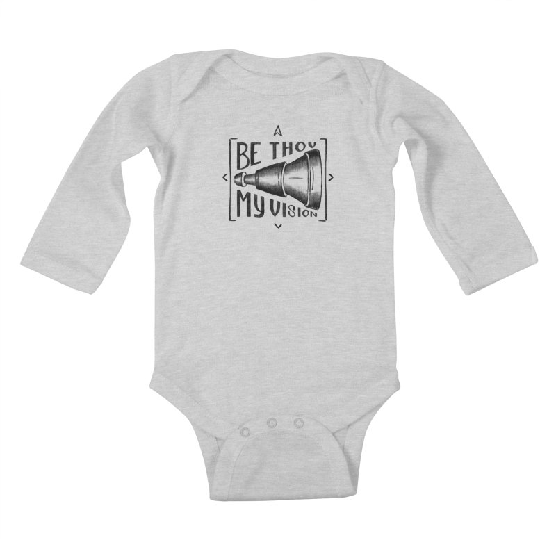 Be Thou My Vision (black) Kids Baby Longsleeve Bodysuit by Reformed Christian Goods & Clothing