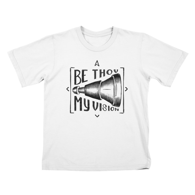 Be Thou My Vision (black) Kids T-Shirt by Reformed Christian Goods & Clothing