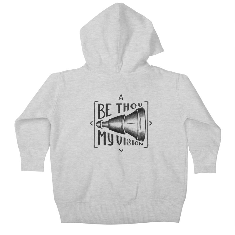 Be Thou My Vision (black) Kids Baby Zip-Up Hoody by Reformed Christian Goods & Clothing