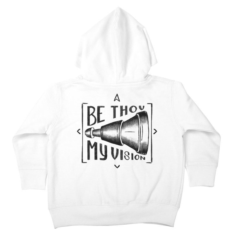 Be Thou My Vision (black) Kids Toddler Zip-Up Hoody by Reformed Christian Goods & Clothing