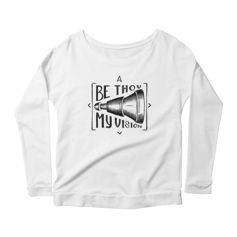 Be Thou My Vision (black) Women's Scoop Neck Longsleeve T-Shirt by Reformed Christian Goods & Clothing
