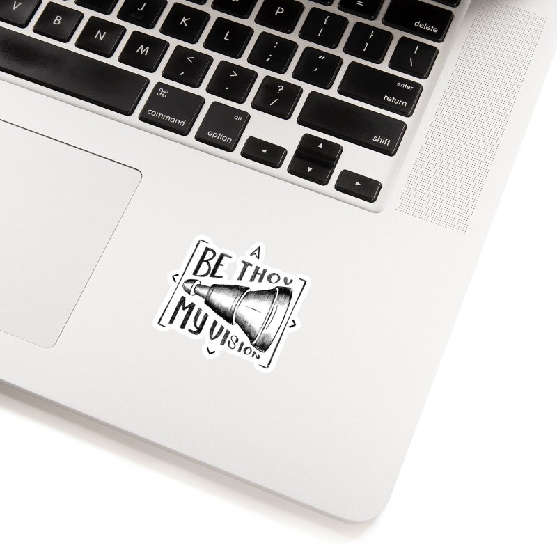 Be Thou My Vision (black) Accessories Sticker by Reformed Christian Goods & Clothing