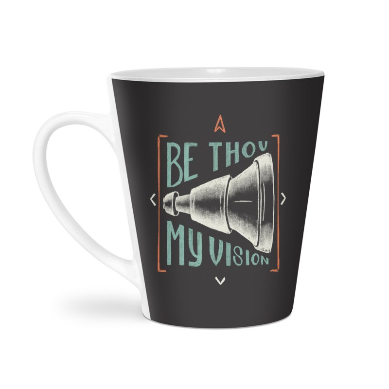 Be Thou My Vision Accessories Latte Mug by A Worthy Manner Goods & Clothing