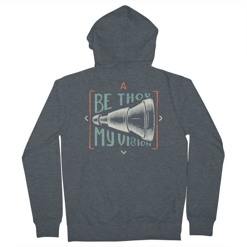 Be Thou My Vision Men's French Terry Zip-Up Hoody by A Worthy Manner Goods & Clothing