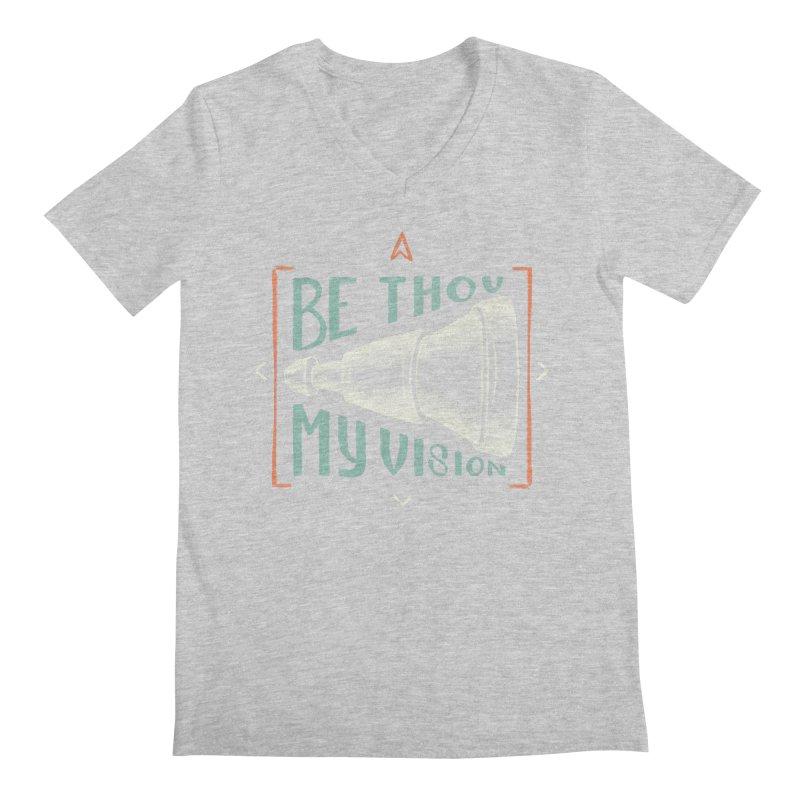 Be Thou My Vision Men's Regular V-Neck by Reformed Christian Goods & Clothing