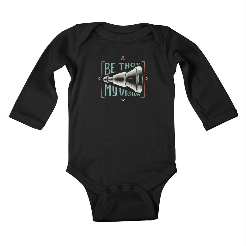 Be Thou My Vision Kids Baby Longsleeve Bodysuit by A Worthy Manner Goods & Clothing