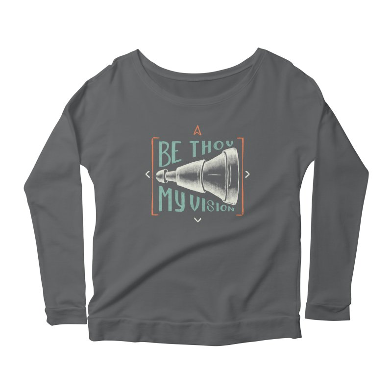 Be Thou My Vision Women's Scoop Neck Longsleeve T-Shirt by Reformed Christian Goods & Clothing