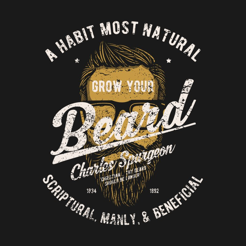 Grow Your Beard! | Charles Spurgeon | Gold & White Kids T-Shirt by A Worthy Manner Goods & Clothing