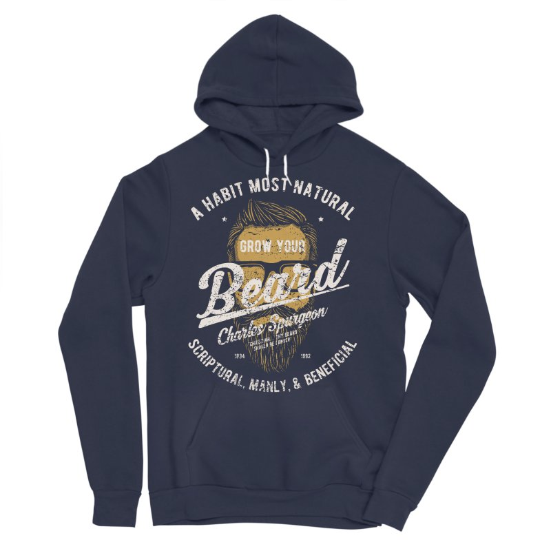 Grow Your Beard! | Charles Spurgeon | Gold & White Women's Sponge Fleece Pullover Hoody by A Worthy Manner Goods & Clothing