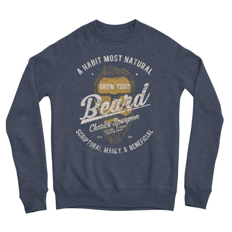 Grow Your Beard! | Charles Spurgeon | Gold & White Men's Sponge Fleece Sweatshirt by A Worthy Manner Goods & Clothing