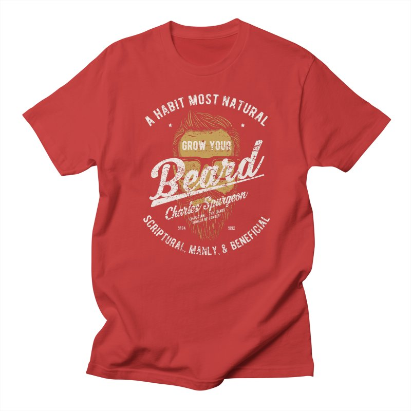 Grow Your Beard! | Charles Spurgeon | Gold & White Men's T-Shirt by A Worthy Manner Goods & Clothing