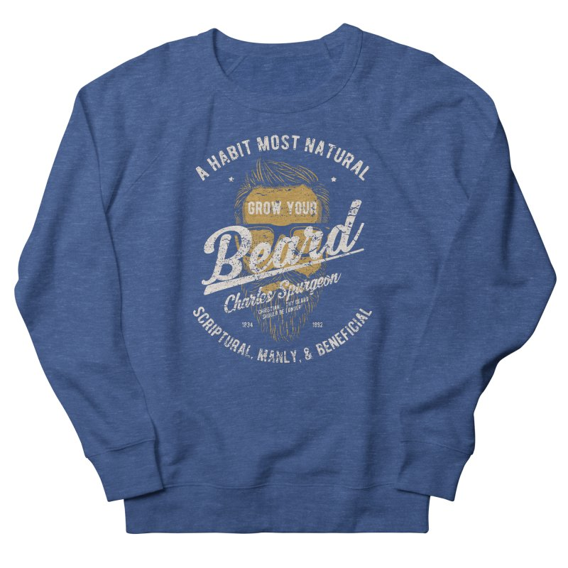 Grow Your Beard! | Charles Spurgeon | Gold & White Men's Sweatshirt by A Worthy Manner Goods & Clothing