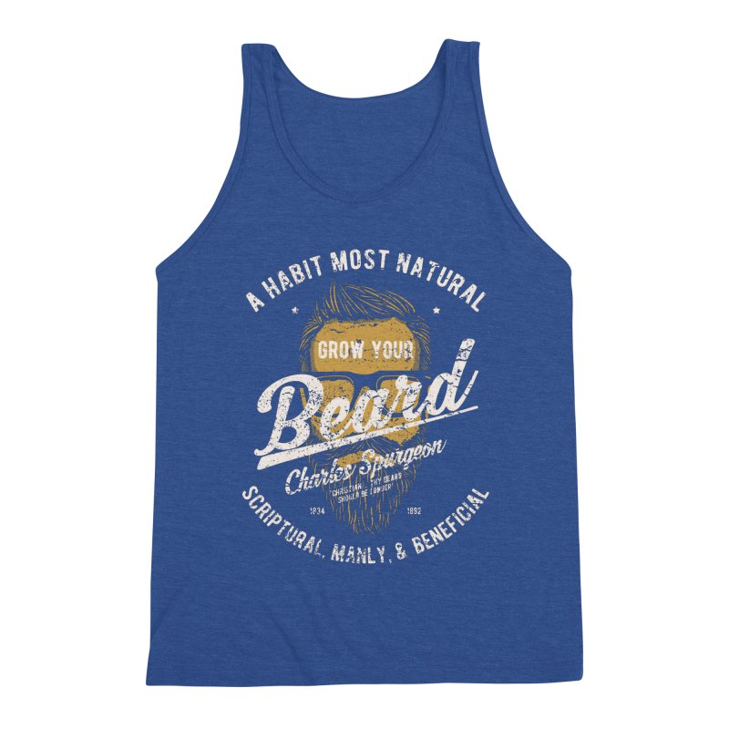Grow Your Beard!   Charles Spurgeon   Gold & White Men's Tank by A Worthy Manner Goods & Clothing