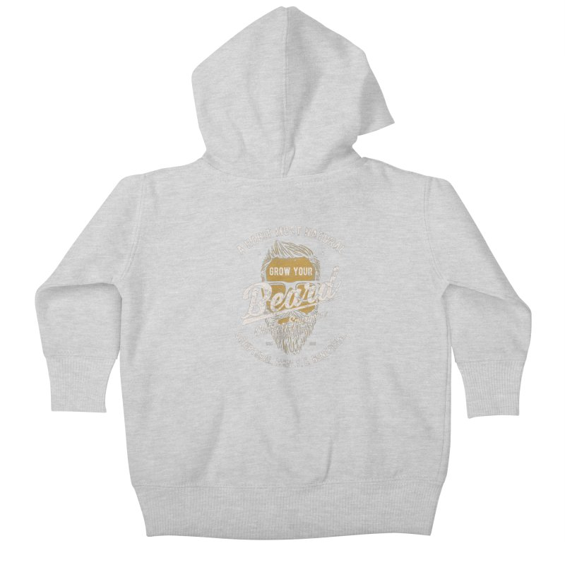 Grow Your Beard! | Charles Spurgeon | Gold & White Kids Baby Zip-Up Hoody by A Worthy Manner Goods & Clothing
