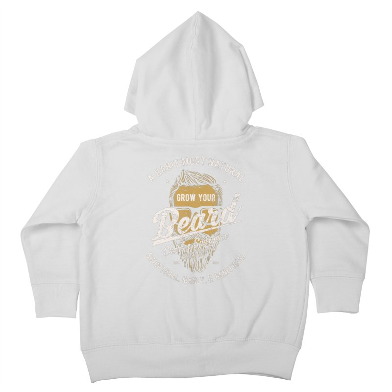 Grow Your Beard! | Charles Spurgeon | Gold & White Kids Toddler Zip-Up Hoody by A Worthy Manner Goods & Clothing