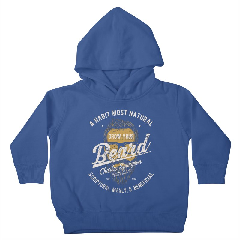 Grow Your Beard! | Charles Spurgeon | Gold & White Kids Toddler Pullover Hoody by A Worthy Manner Goods & Clothing