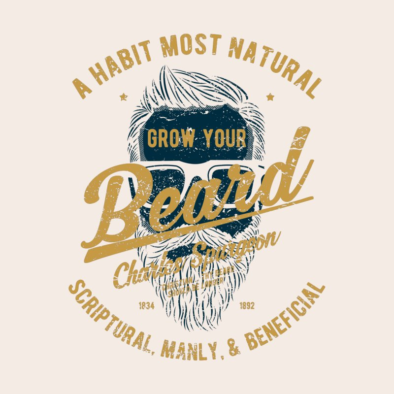 Grow Your Beard! | Charles Spurgeon | Blue & Gold Women's Longsleeve T-Shirt by A Worthy Manner Goods & Clothing