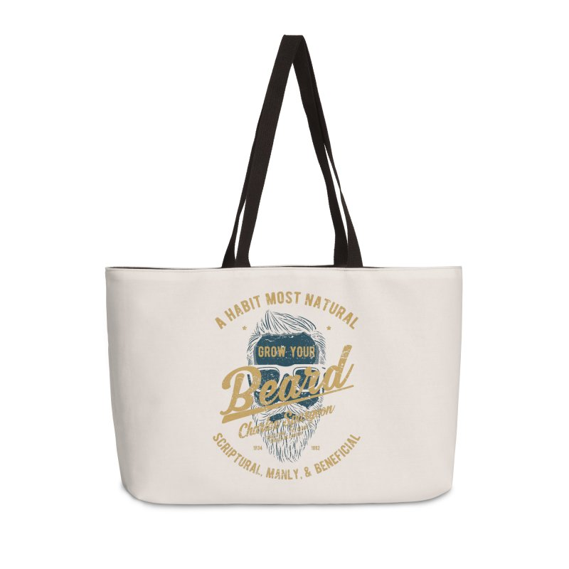 Grow Your Beard! | Charles Spurgeon | Blue & Gold Accessories Bag by Reformed Christian Goods & Clothing