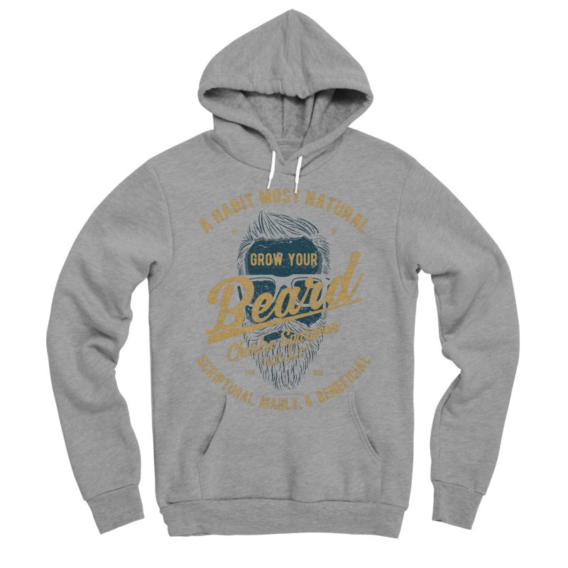 Grow Your Beard! | Charles Spurgeon | Blue & Gold Women's Sponge Fleece Pullover Hoody by A Worthy Manner Goods & Clothing