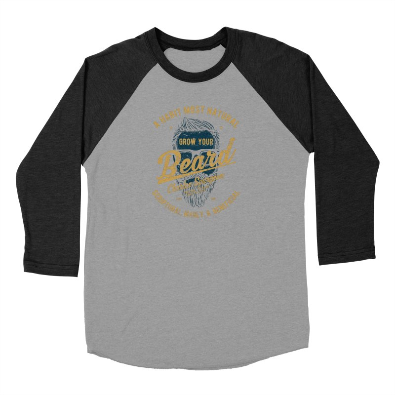 Grow Your Beard!   Charles Spurgeon   Blue & Gold Women's Longsleeve T-Shirt by A Worthy Manner Goods & Clothing