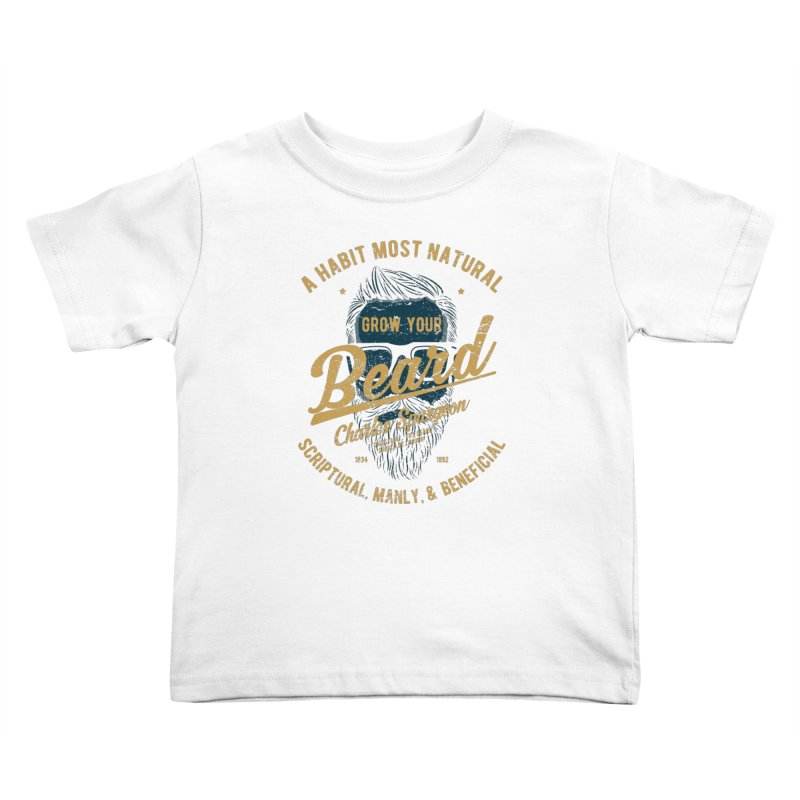 Grow Your Beard! | Charles Spurgeon | Blue & Gold Kids Toddler T-Shirt by A Worthy Manner Goods & Clothing
