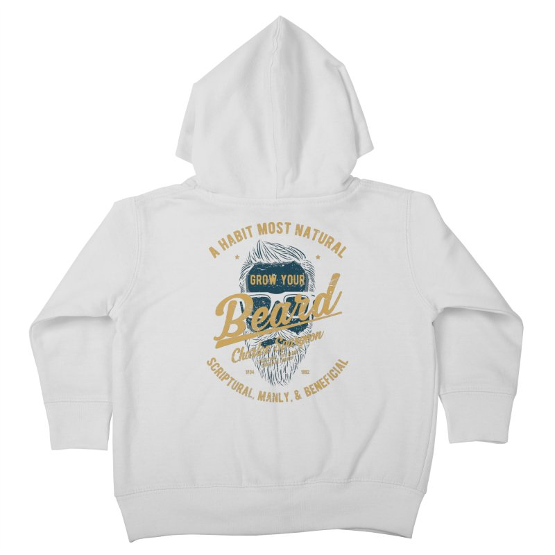 Grow Your Beard! | Charles Spurgeon | Blue & Gold Kids Toddler Zip-Up Hoody by A Worthy Manner Goods & Clothing