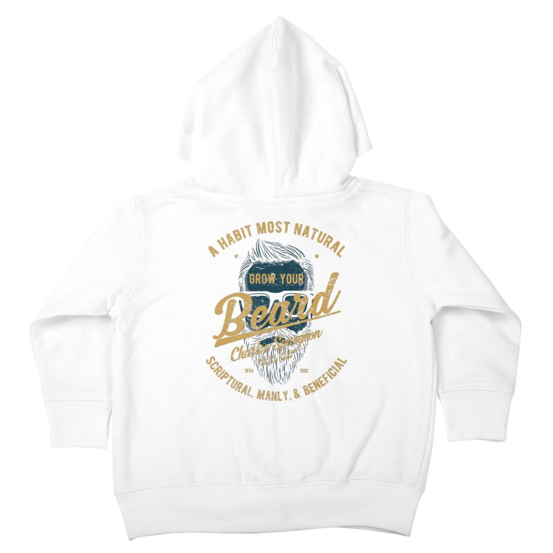 Grow Your Beard! | Charles Spurgeon | Blue & Gold Kids Toddler Zip-Up Hoody by Reformed Christian Goods & Clothing