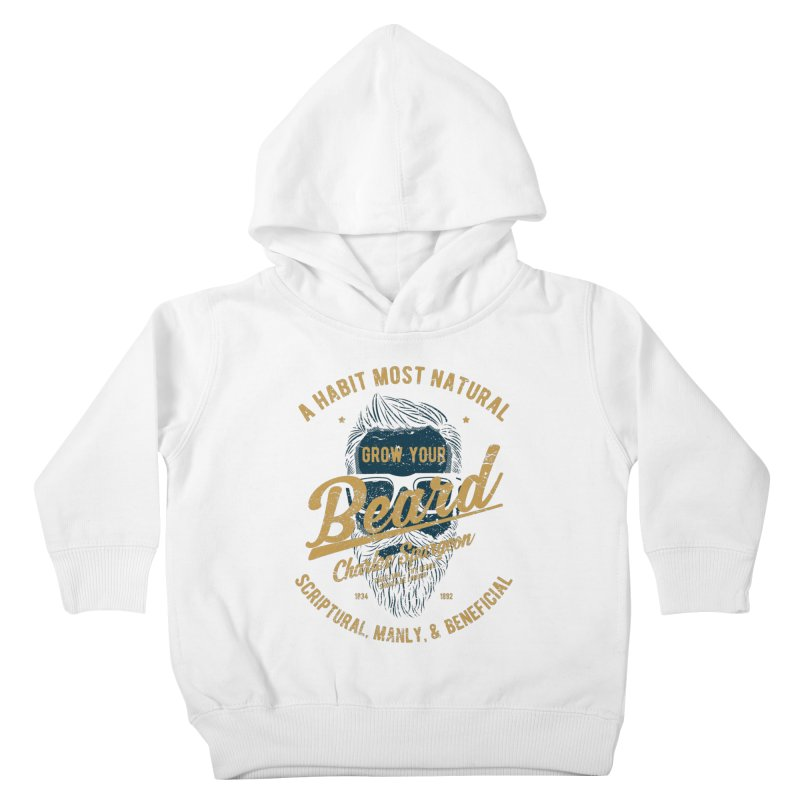 Grow Your Beard! | Charles Spurgeon | Blue & Gold Kids Toddler Pullover Hoody by A Worthy Manner Goods & Clothing