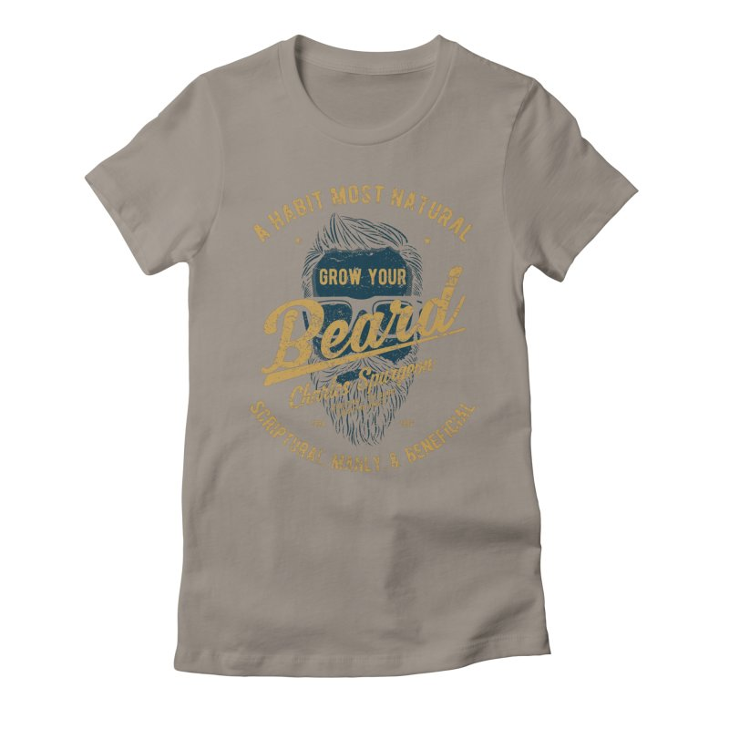 Grow Your Beard! | Charles Spurgeon | Blue & Gold Women's T-Shirt by A Worthy Manner Goods & Clothing