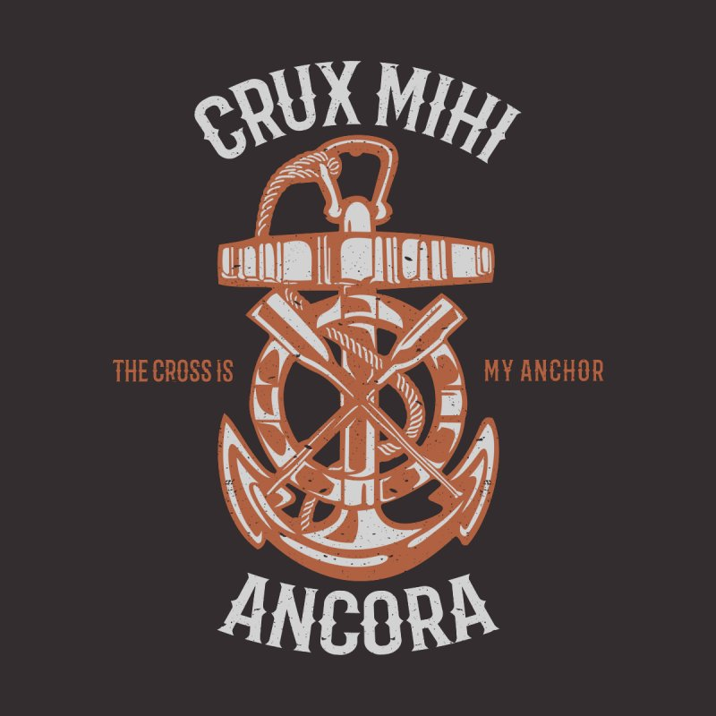 Crux Mihi Ancora | The Cross Is My Anchor | White & Red Women's V-Neck by A Worthy Manner Goods & Clothing