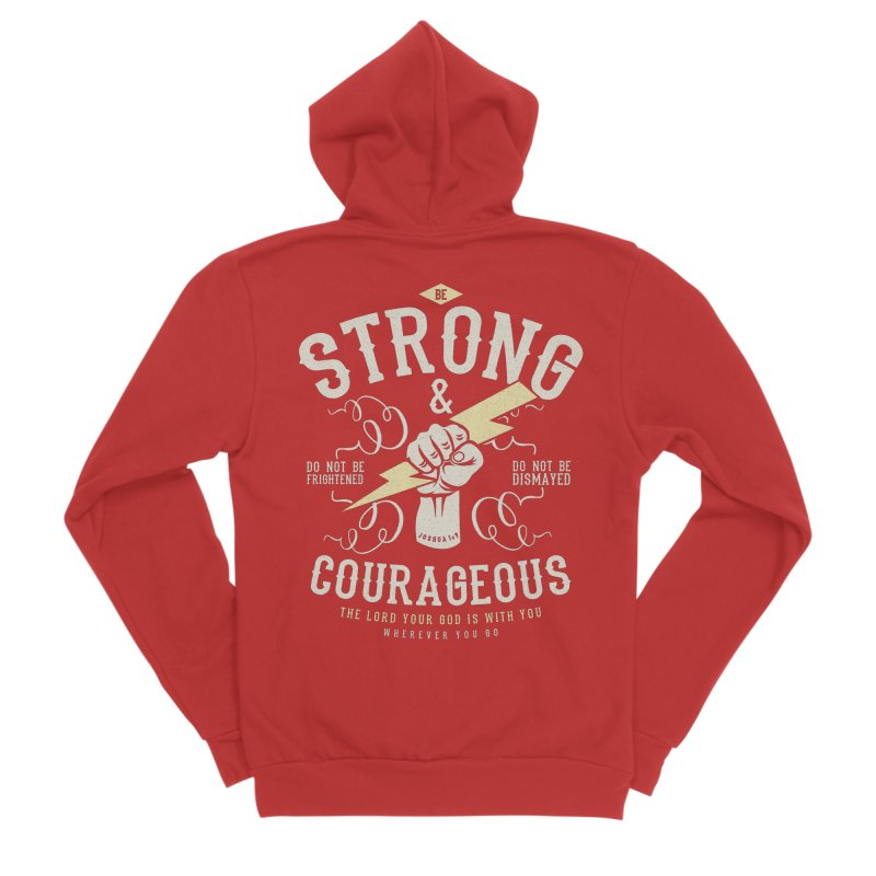 Be Strong and Courageous | Joshua 1:9 Men's Zip-Up Hoody by A Worthy Manner Goods & Clothing