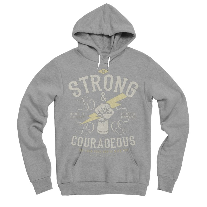 Be Strong and Courageous | Joshua 1:9 Women's Sponge Fleece Pullover Hoody by A Worthy Manner Goods & Clothing