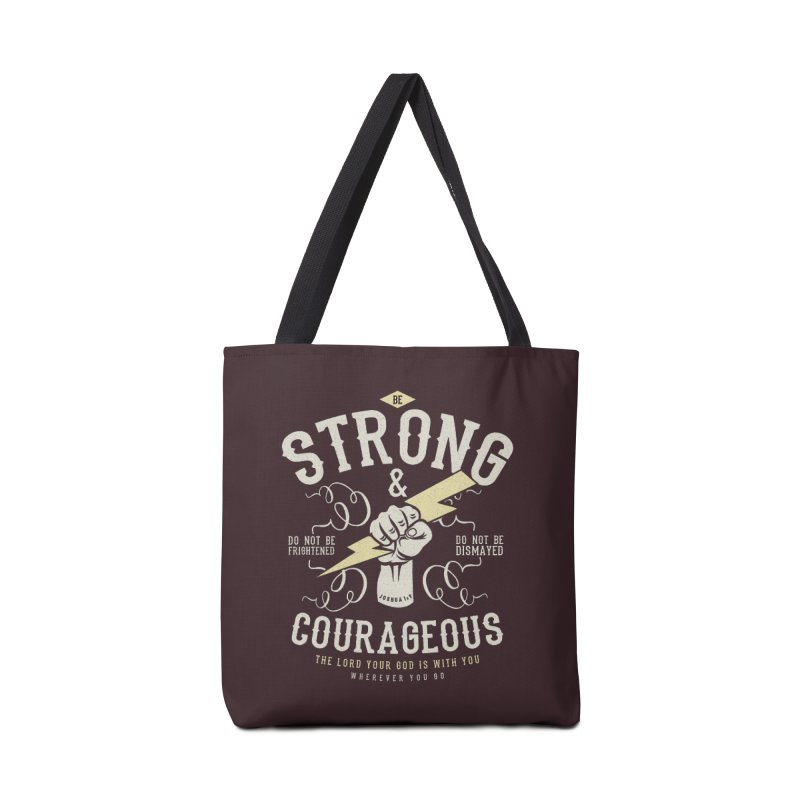 Be Strong and Courageous | Joshua 1:9 Accessories Bag by Reformed Christian Goods & Clothing