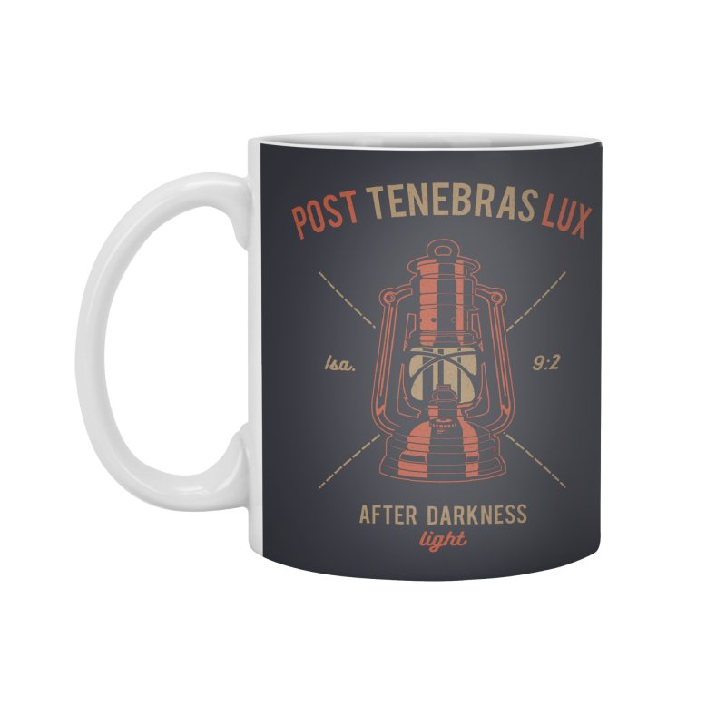 Post Tenebras Lux Accessories Mug by Reformed Christian Goods & Clothing