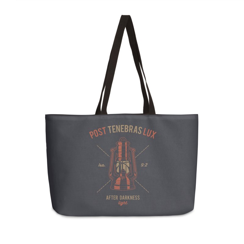 Post Tenebras Lux Accessories Weekender Bag Bag by Reformed Christian Goods & Clothing