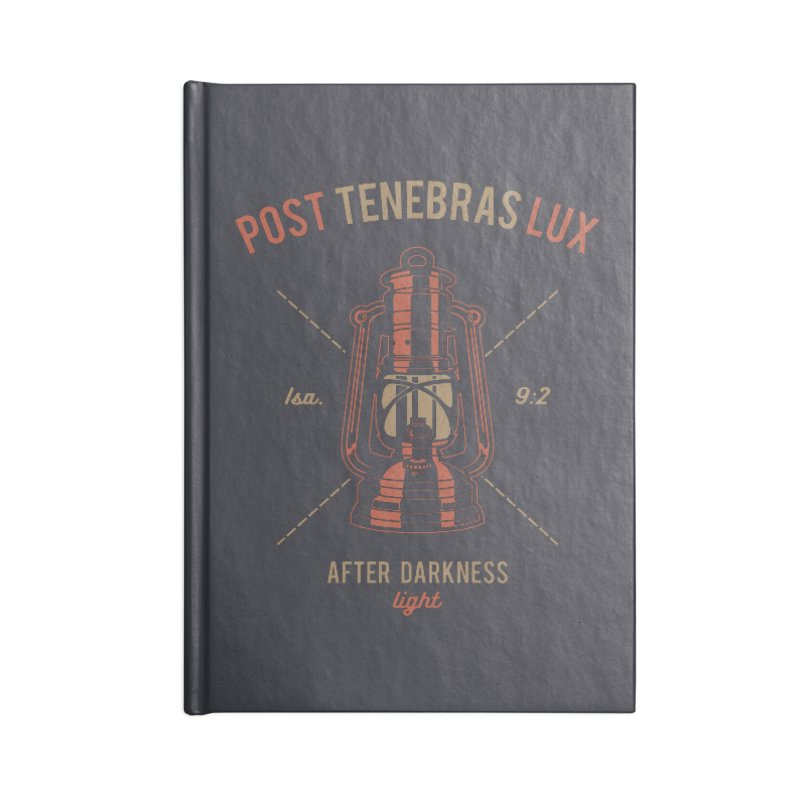 Post Tenebras Lux Accessories Notebook by Reformed Christian Goods & Clothing