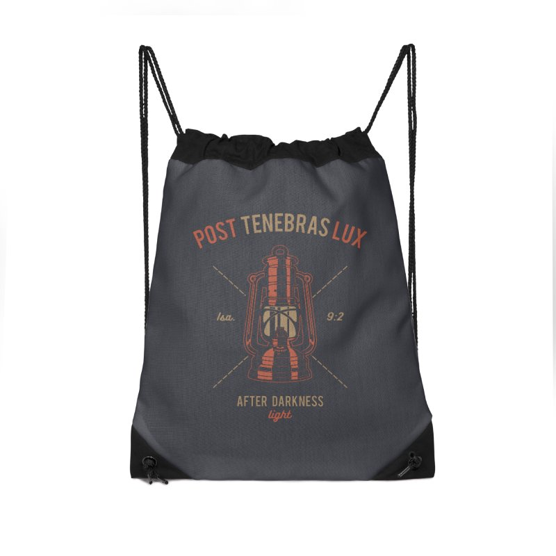 Post Tenebras Lux Accessories Drawstring Bag Bag by Reformed Christian Goods & Clothing