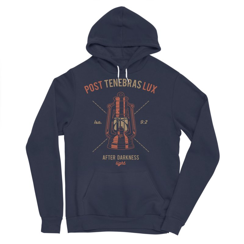 Post Tenebras Lux Men's Sponge Fleece Pullover Hoody by Reformed Christian Goods & Clothing