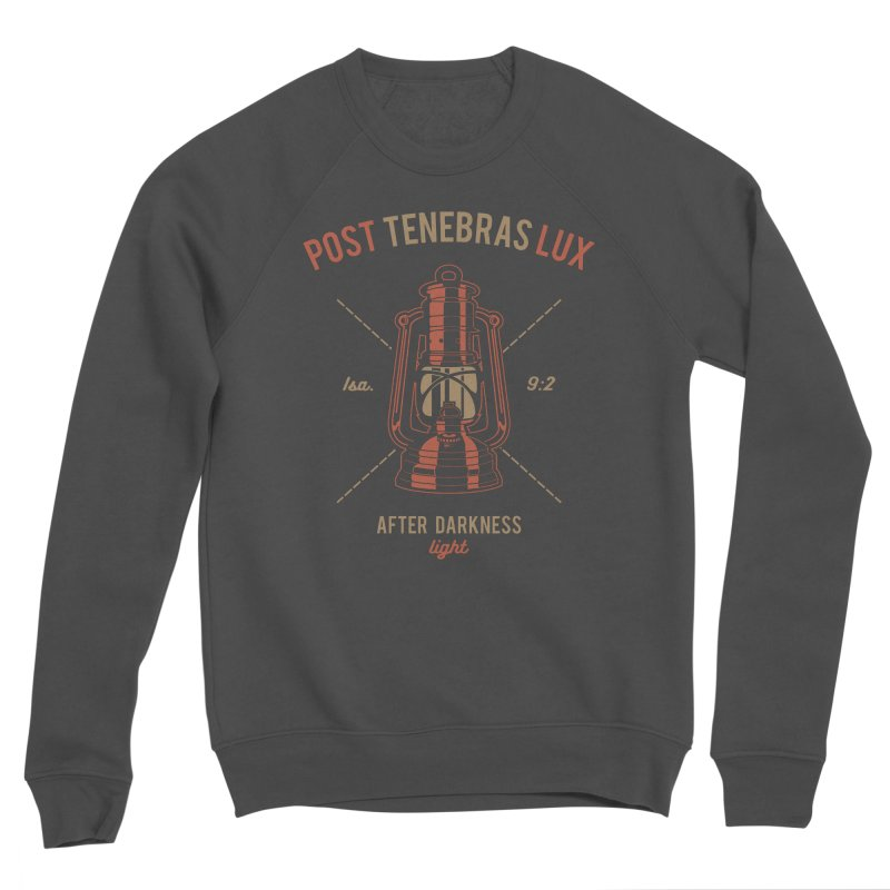 Post Tenebras Lux Men's Sponge Fleece Sweatshirt by Reformed Christian Goods & Clothing