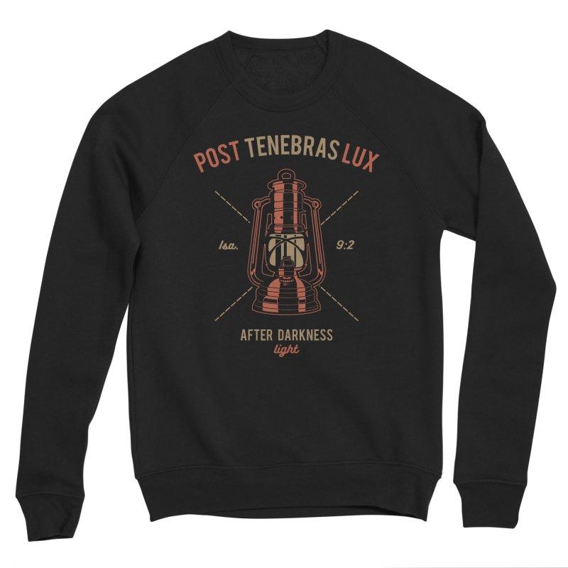 Post Tenebras Lux Men's Sponge Fleece Sweatshirt by A Worthy Manner Goods & Clothing