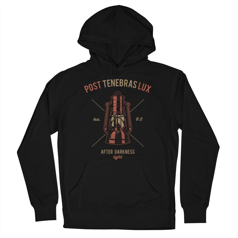 Post Tenebras Lux Men's French Terry Pullover Hoody by Reformed Christian Goods & Clothing