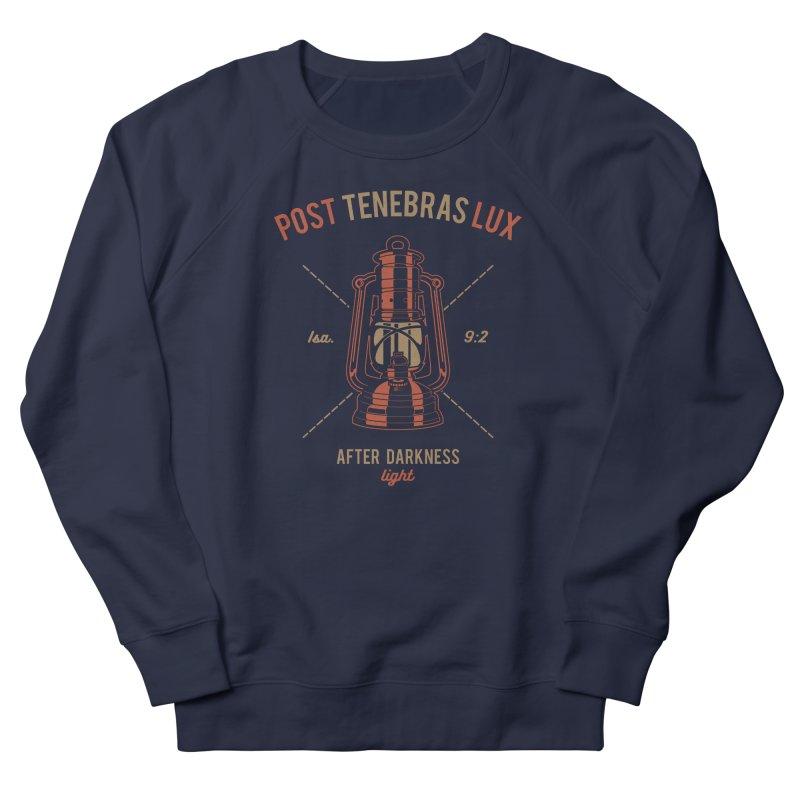Post Tenebras Lux Men's French Terry Sweatshirt by Reformed Christian Goods & Clothing