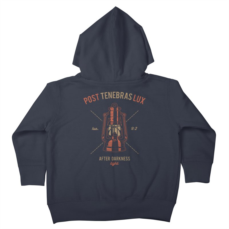 Post Tenebras Lux Kids Toddler Zip-Up Hoody by Reformed Christian Goods & Clothing